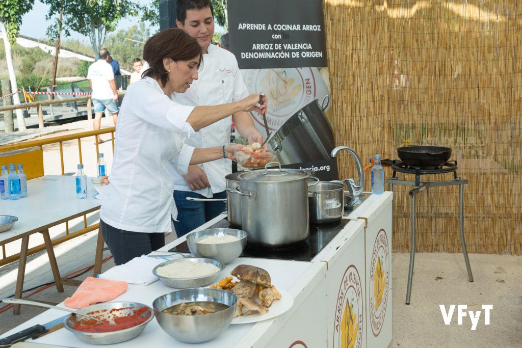 Show cooking en la Fiesta de la Siega del Arroz