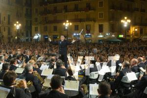 La Banda Municipal de Valencia en el concierto extraordinario en honor a la Virgen de los Desamparados. Foto: Manolo Guallart.