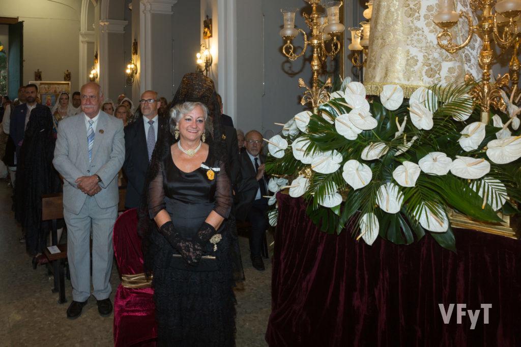 Carmell Morell, Honorable Clavariesa de las Fiestas Vicentinas, en la celebración.