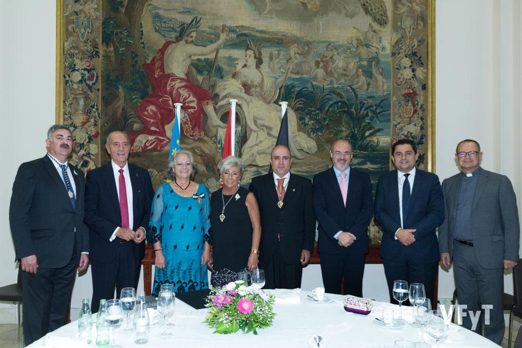 Fotografía oficial de la cena en honor a Mª José Garrido, Clavariesa Mayor del Altar del Tossal 2018. Foto de Manolo Guallart.