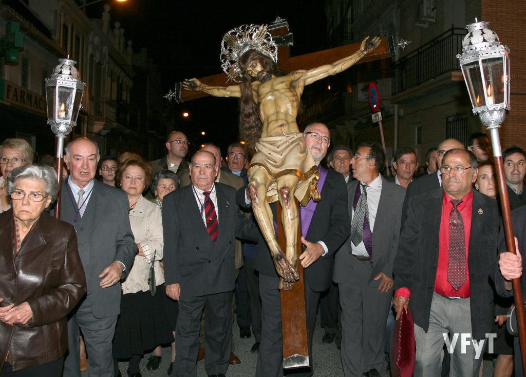 Procesión del Cristo del Salvador en en Cabanyal.