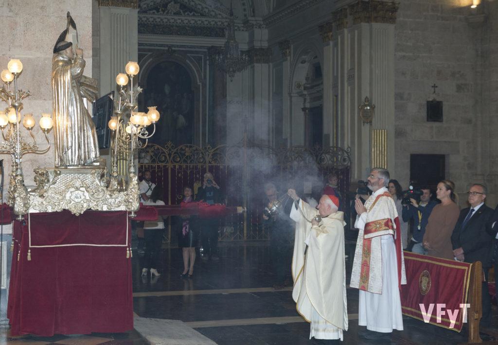 En la misa de pontifical de San Vicente Ferrer celebrada en la Catedral de Valencia.