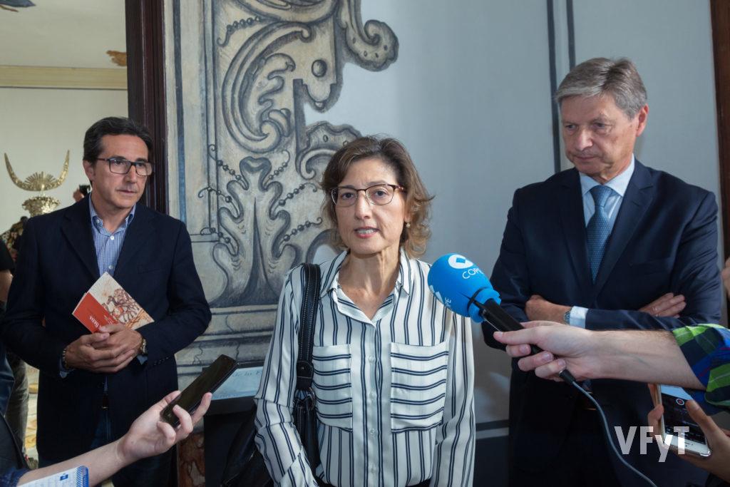 Catalina Sánchez, portavoz de la ONG Delwende, durante la rueda de prensa.