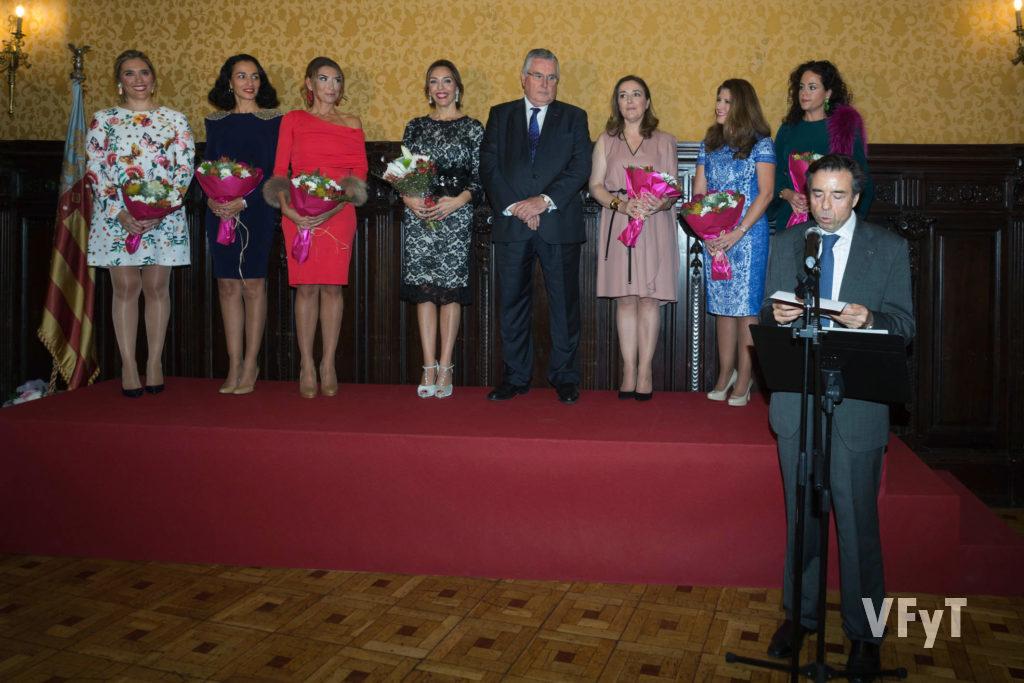Vicent Navarro, presidente dels Jocs Florals, en su intervención.
