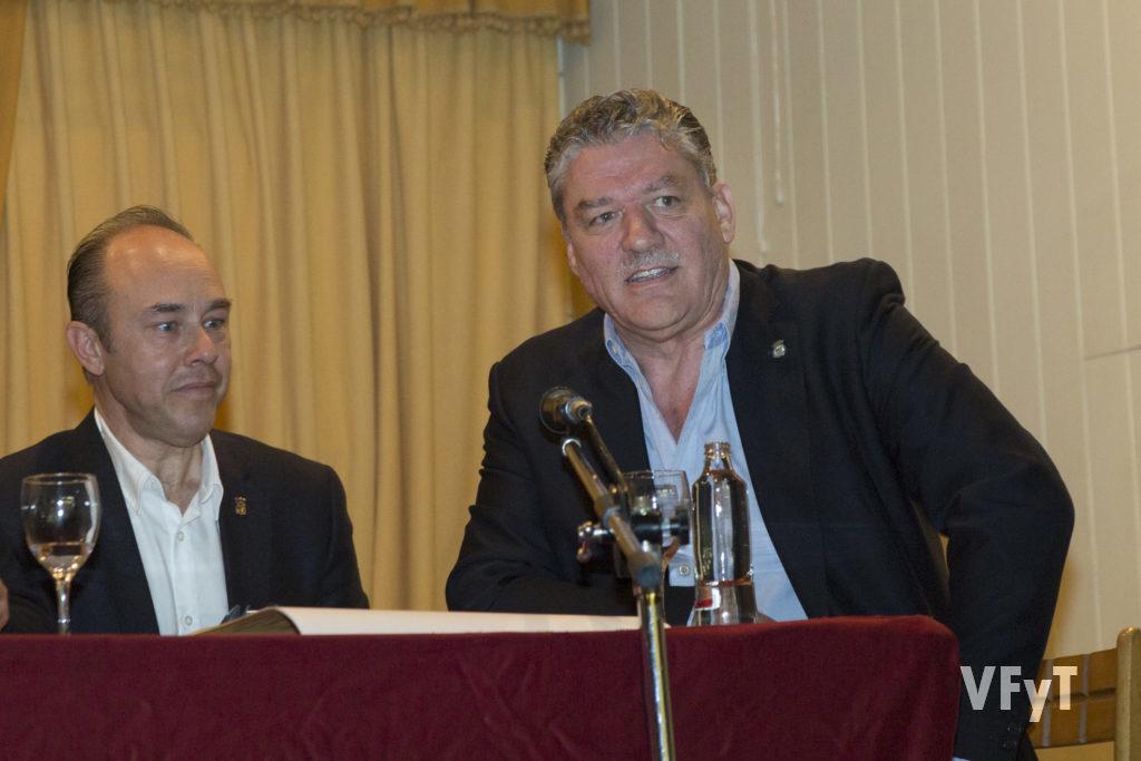 Elpresidente del Centro Aragonés de Valencia, Ricardo Soriano, en su intervención.