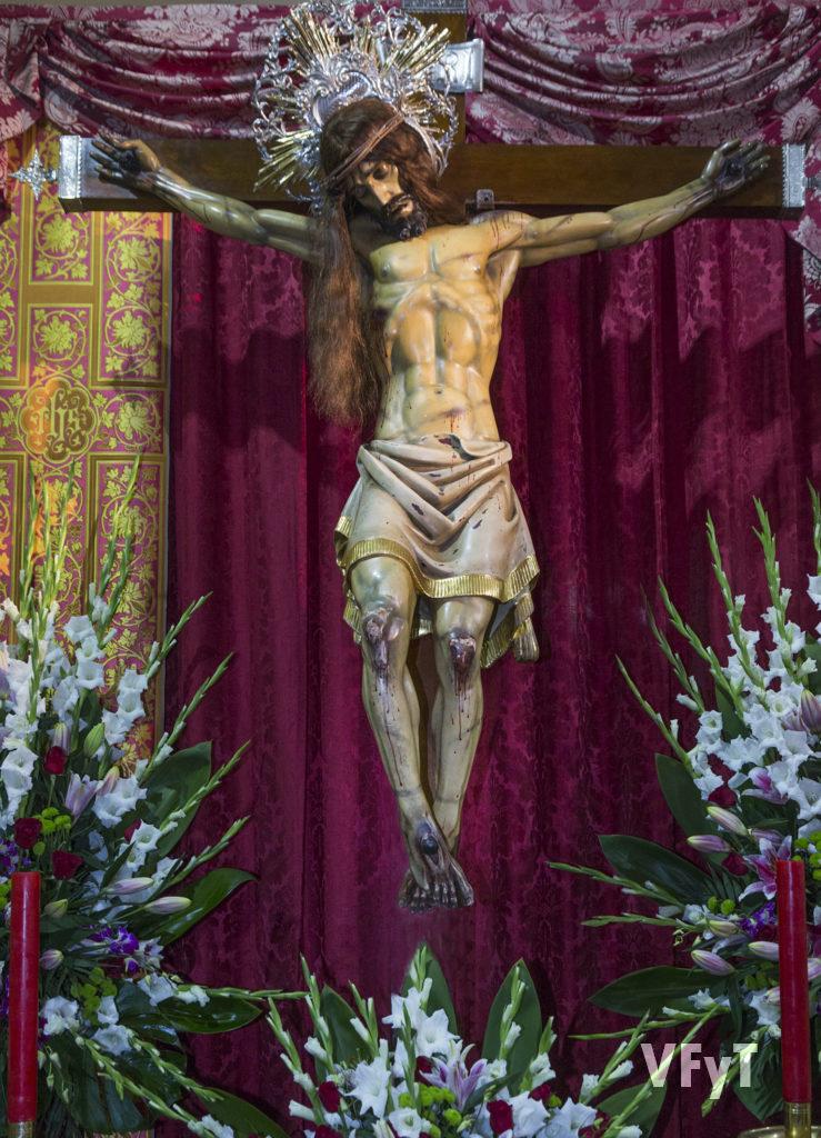 Santísimo Cristo del Salvador, venerado en la parroquia de Nuestra Señora de los Ángeles en el Cabanyal.