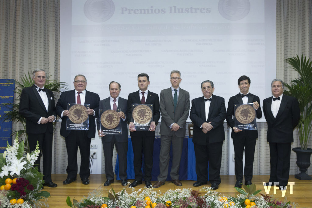 Premios Ilustres 2017. Real Sociedad de Agricultura y Deportes de Valencia.