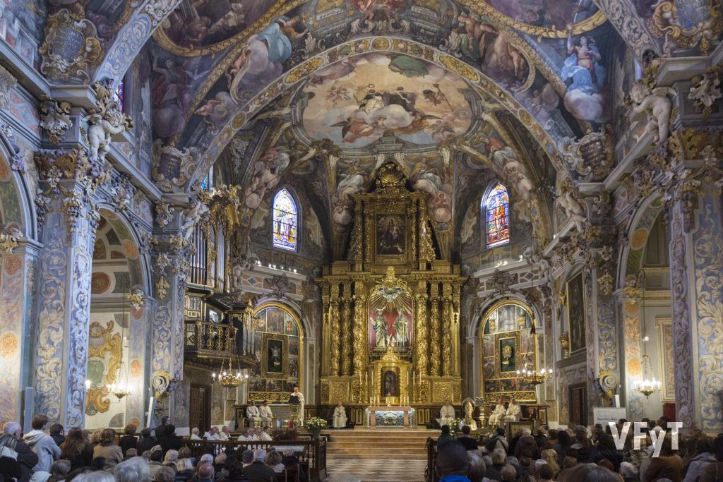 Celebración de la festividad de San Nicolás en el templo parroquial