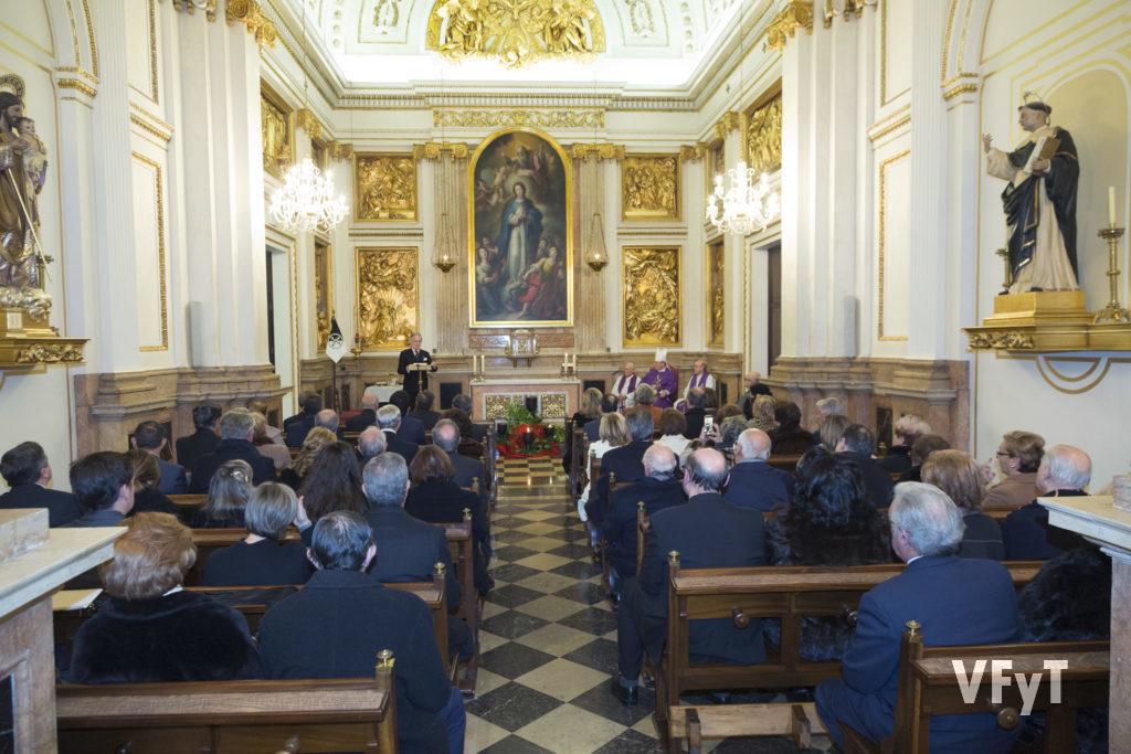 Celebración capitular en la capilla del Palacio Arzobispal de Valencia.