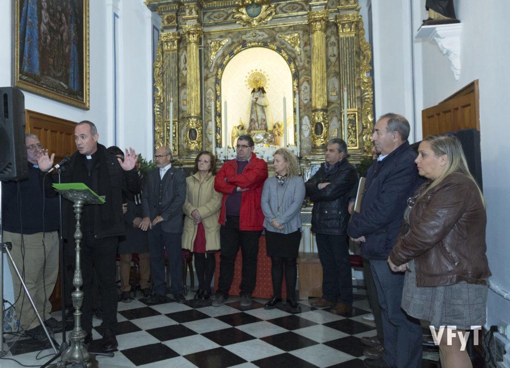 Bendición de acto por el vice-rector de la Basílica, Álvaro Almenar.