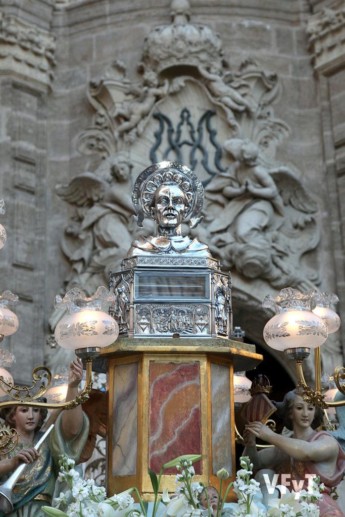 Reliquia de San Vicente Ferrer que se conserva en el Colegio Imperial de Niños Huérfanos, milagro vivo del santo patrón. Foto de Manolo Guallart.
