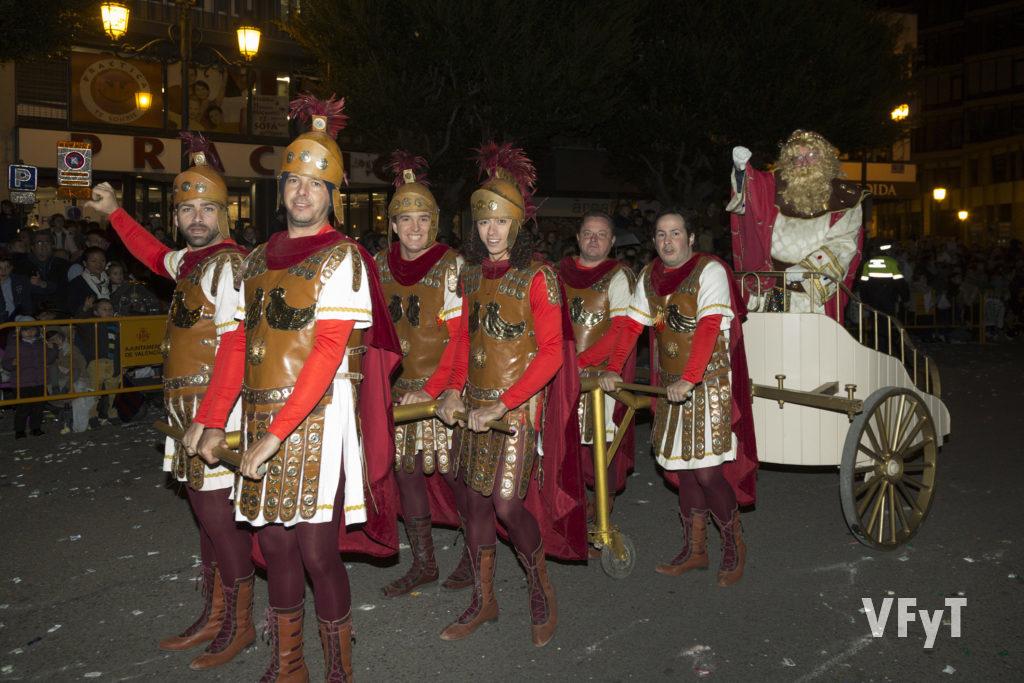 El Rey Herodes en la Cabalgada de los Reyes Magos en Valencia. Foto de Manolo Guallart.