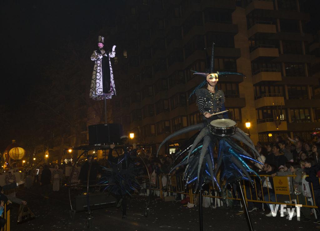 Cabalgata de los Reyes Magos en Valencia. Foto de Manolo Guallart.