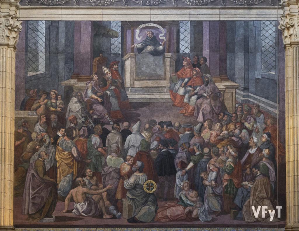 San Vicente Ferrer en el Compromiso de Caspe (Pintor Bartolomé Matarana. Siglo XVI). Foto de Manolo Guallart.