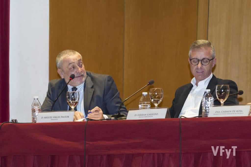 Miguel Ángel Pastor con Ferran Garrido. Foto de Manolo Guallart.