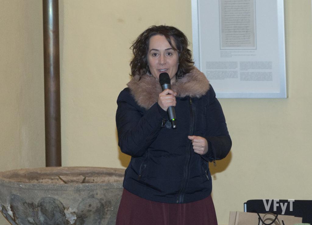 La concejal de cultural del Ayuntamiento de Valencia, Glòria Tello, en la clausura del acto. Foto de Manolo Guallart.