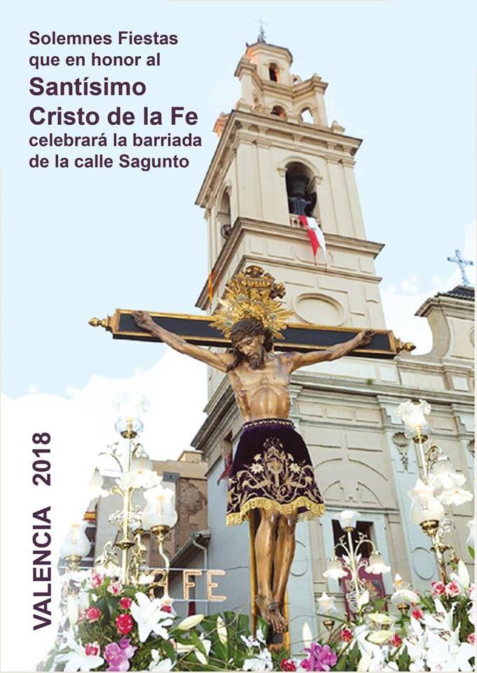 Cartel oficial de las fiestas en honor al Santísimo Cristo de la Fe de la barriada de la calle Sagunto