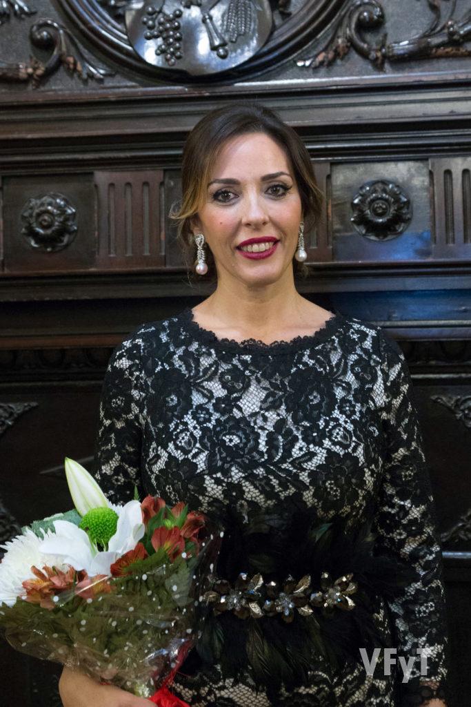 Mónica Duart, Regina dels Jocs Florals 2018. Foto de Manolo Guallart.