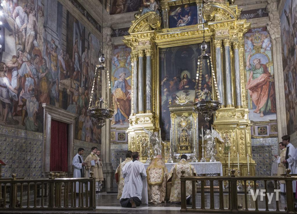 Octava del Corpus en el Real Seminario Corpus Christi 'El Patriarca'. Foto de Manolo Guallart.
