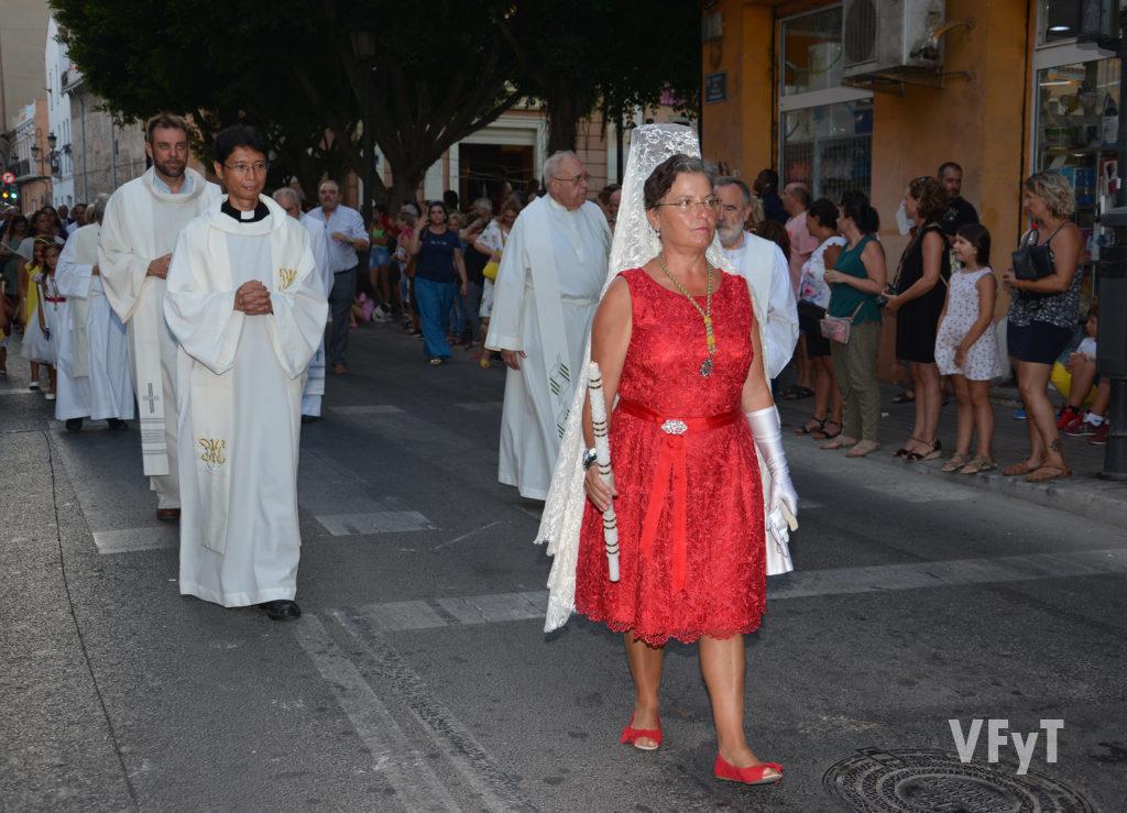 Cristina Payá Vallés ha sido la Órfena de la Virgen de los Ángeles en el Cabañal