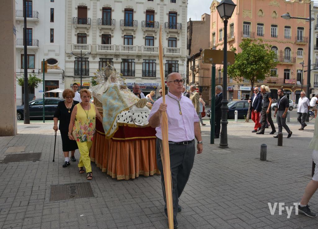 Procesión de la Asunción de la Virgen en el Grao. Foto: Rafa Montesinos.