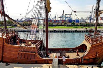 Nao Santa María, atracada en el Puerto de Valencia. Foto: Agustín Verdeguer.