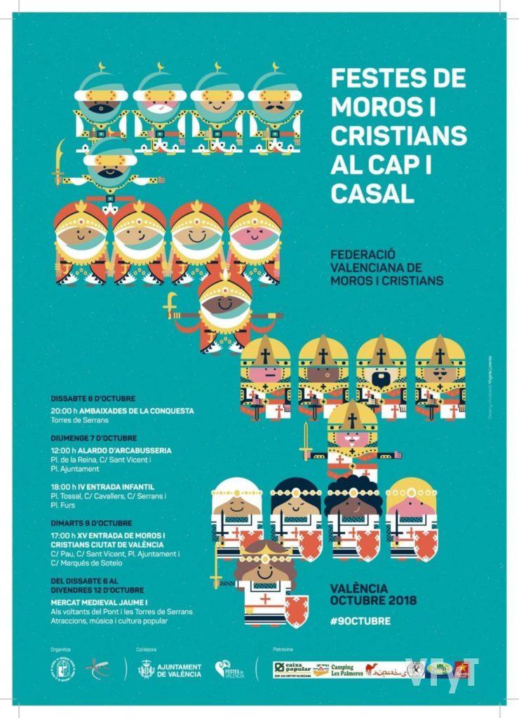 Cartel anunciador de Moros y Cristianos Valencia 2018