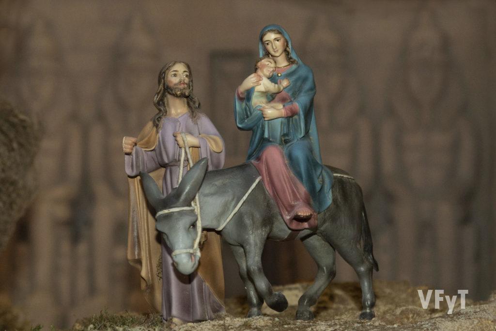Detalle del belén en la parroquia de San Francisco de Borja. Fotografía de Manolo Guallart.