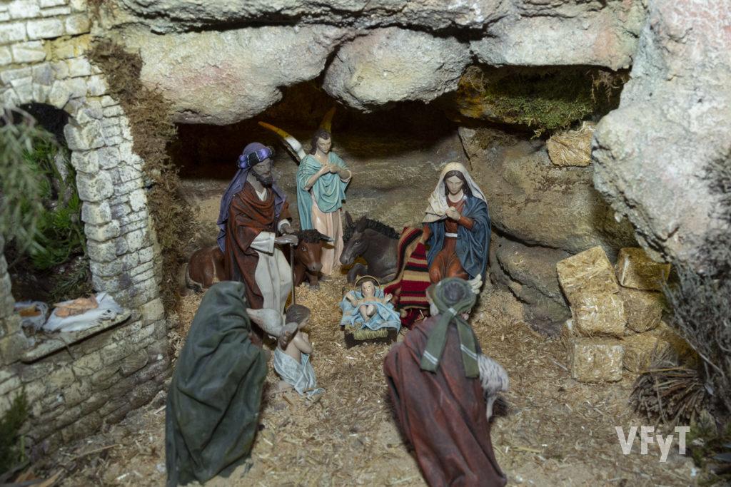 Nacimiento del belén en la parroquia de San Francisco de Borja. Fotografía de Manolo Guallart.