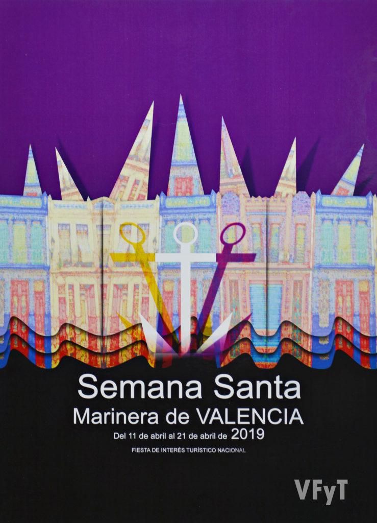 Cartel ganador del concurso de la Semana Santa Marinera de valencia (autor Paco Ibiza). Foto: Rafa Montesinos.