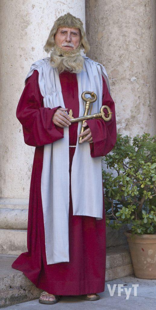 Juan Gómez Ortiz en el papel de San Pedro. (Foto: Pedro Molero)