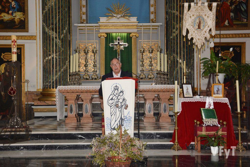 José Sarrió durante el Pregón
