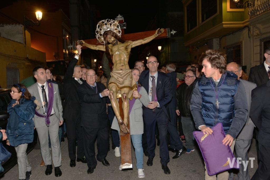 Cristo del Salvador. Procesión por las calles del Cabanyal. Foto: Rafa Montesinos.