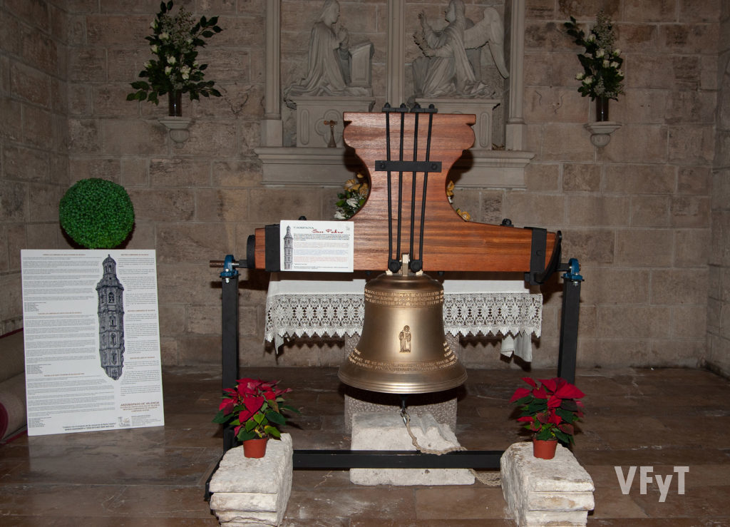 La campana 'El Peret' de la iglesia de Santa Catalina. Foto: Juan Manuel Ramón.
