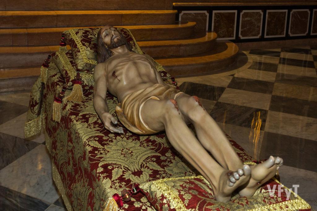 Cristo del Fossar (Parroquia de San Nicolás). Foto: Manolo Guallart.