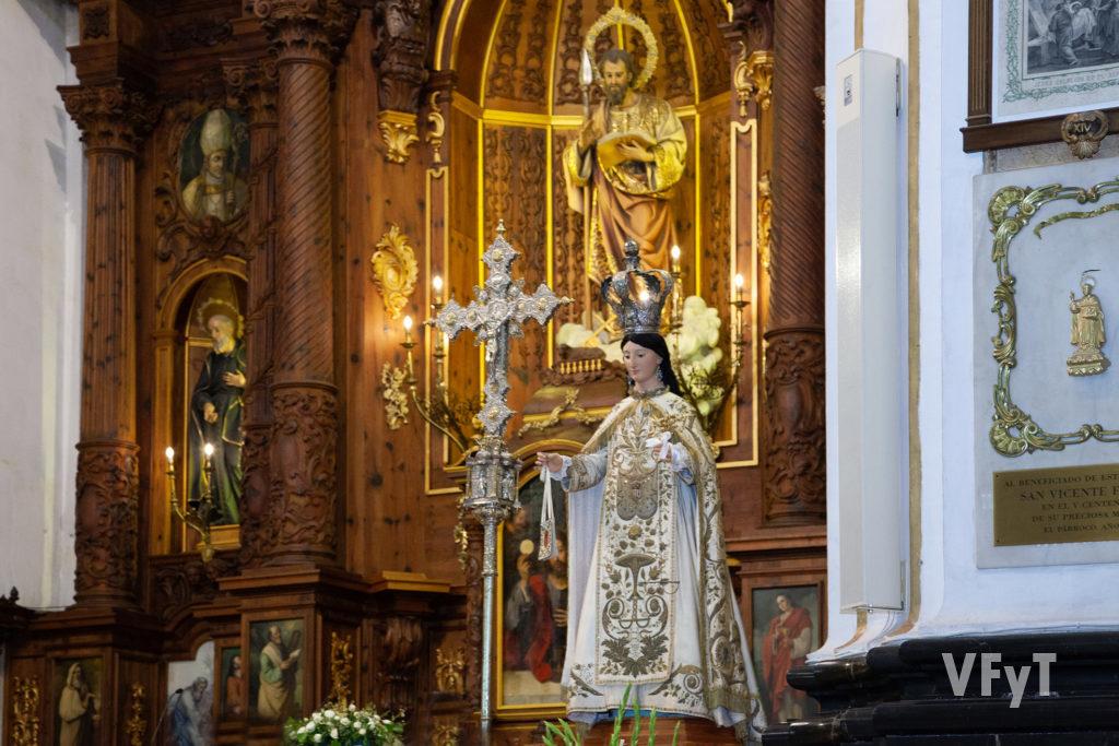 La Virgen de la Merced en la parroquia de Santo tomás y San Felipe Neri de Valencia. Foto: Manolo Guallart.