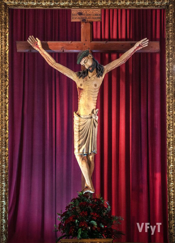 Imagen del Santísimo Cristo del Salvador. Foto: Manolo Guallart