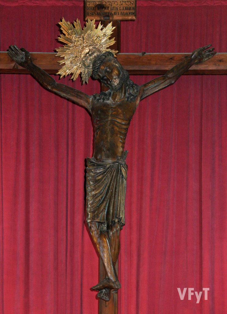 La imagen del Cristo del Salvador antes de su restauración. Foto: Manolo Guallart.