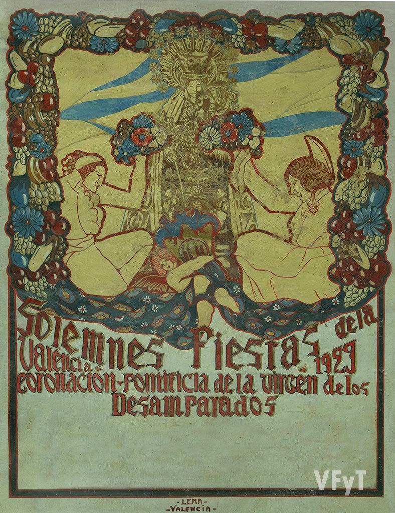 Cartel de Josep Renau, sobre las fiestas de la Coronación de la Virgen (1923), incorporado al MUMA. Foto: Manolo Guallart